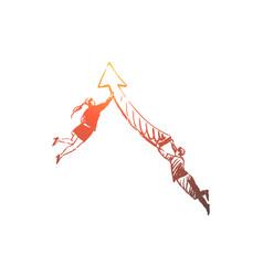 business arrow people success team vector image