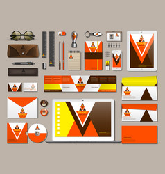 Business corporate identity items set vector
