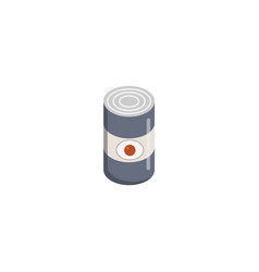 Camping tin can icon flat style vector