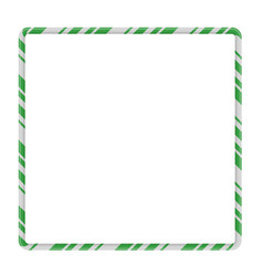 Candy cane frame border square shape christmas vector