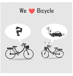 Car and bicycle vector