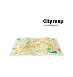 City map streets avenue buildings parks vector