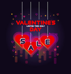 colorful valentines day sale poster vector image