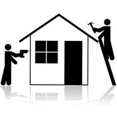 Contractors working vector