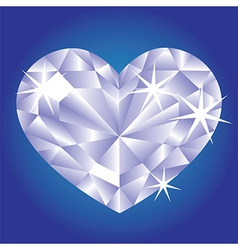Diamond card hearts vector