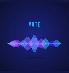 display sound frequency digital vote interface vector image