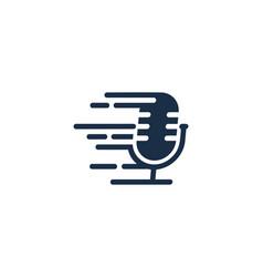 Fast podcast logo icon design vector