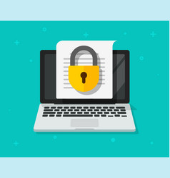 file access secure to confidential document online vector image