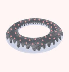 flat shading style icon donut vector image