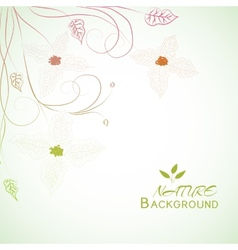 floral nature background concept vector image