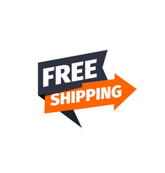 free shipping icon delivery pointer vector image
