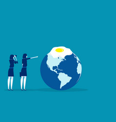 Global warming concept business vector