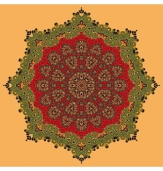 Green and Red Oriental Mandala vector image
