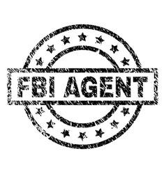 Grunge textured fbi agent stamp seal vector