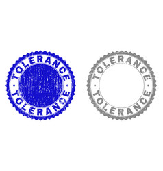 Grunge tolerance textured stamp seals vector