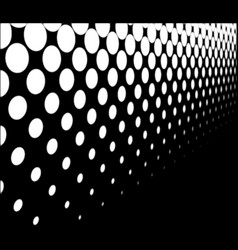 Half tone perspective vector