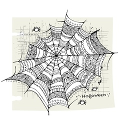 Halloween spider web background vector