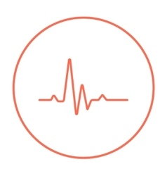 Hheart beat cardiogram line icon vector