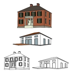 House sketch set 01 vector