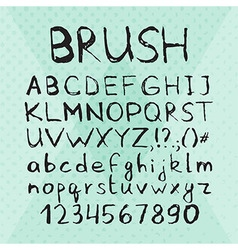 Ink Pen Brush Hand Drawn Font vector image