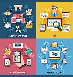 Internet marketing design concept vector
