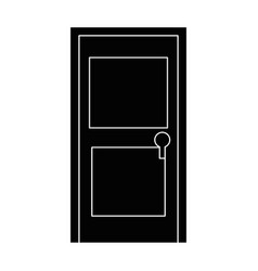 isolated door cartoon vector image