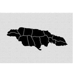 Jamaica map - high detailed black map vector
