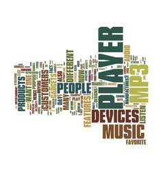 Let the music play with mp player text background vector