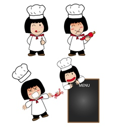 Little cook actions vector