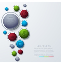 modern busainess infographic vector image
