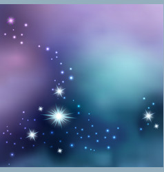 night sky with shiny stars galaxy space vector image