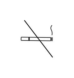 no smoke icon vector image