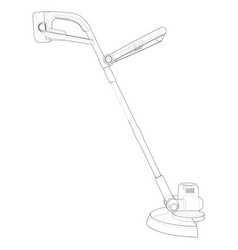 outline trimmer grass cutter vector image