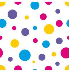 polka dot seamless colorful background vector image