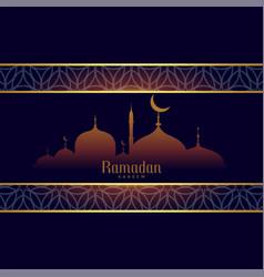Ramadan kareem background in arabic style vector