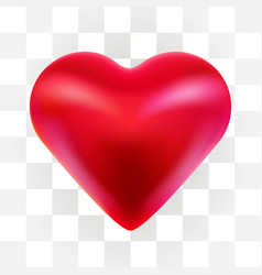 red valentine heart isolated on transparent vector image