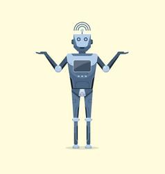 Robot character design artificial intelligent vector