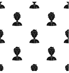 Scientist icon in black style isolated on white vector