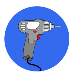 screw gun icon impact wrench or screwgun vector image
