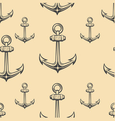 seamless pattern with anchors design element for vector image