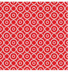 seamless pattern with white polka dots on red vector image
