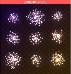 Set of lighting isolated effect vector image