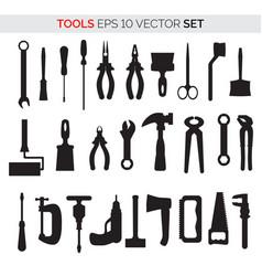 set repair tools vector image
