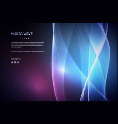 sound wave music voice vibration vector image