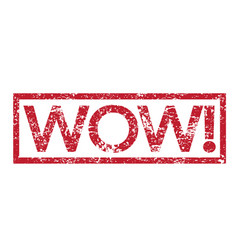 Stamp text wow vector