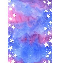 star on fairy tale sky watercolor frame vector image
