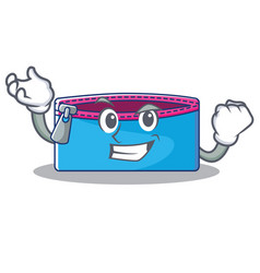 Succesful pencil case character cartoon vector