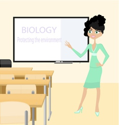 Teacher of biology vector image