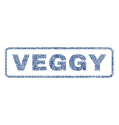 Veggy textile stamp vector