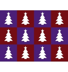 violet and red bacground with christmas trees vector image